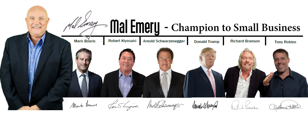 Mal-Emery-Mark-Bouris-Robert-Kiyosaki-Arnold-Schwarzenegger-Donald-Trump-Richard-Branson-Tony-Robbins